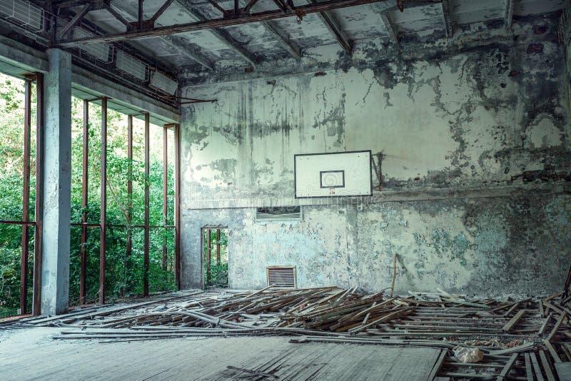 Zaniechany gym w Pripyat obrazy royalty free