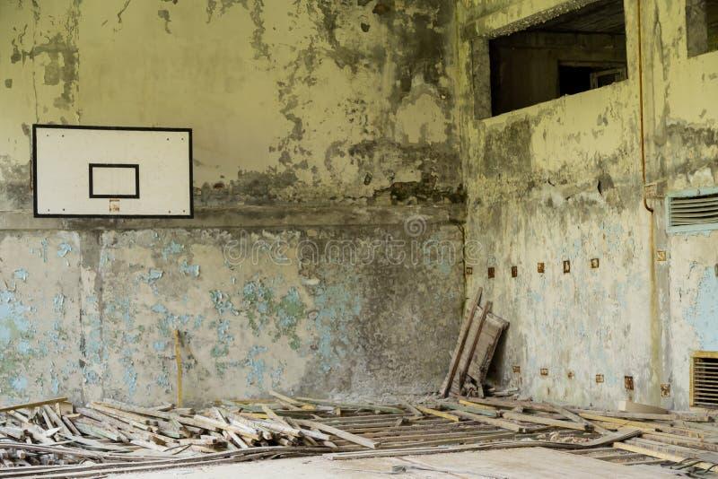 Zaniechany gym w Pripyat obraz stock