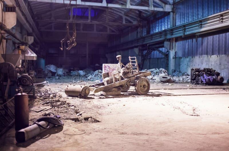 zaniechany hangar obrazy royalty free