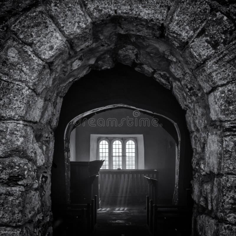 Zaniechany kościół w Walia zdjęcia royalty free