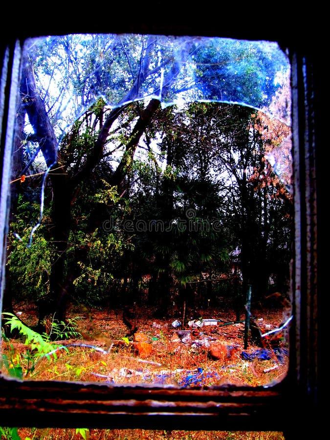 Zaniechany majątkowy okno obrazy royalty free