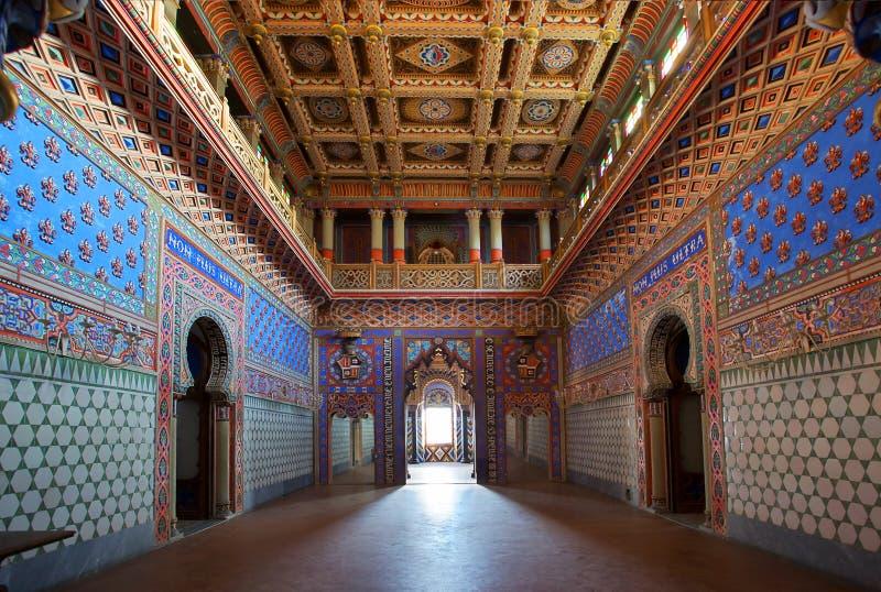 zaniechany pałac fotografia royalty free