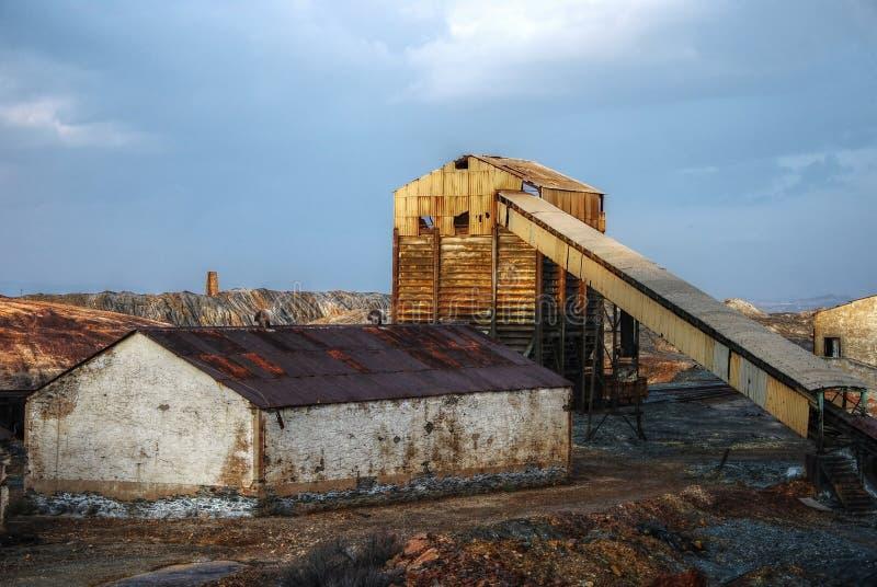 zaniechany przemysłowy kopalniany Spain zdjęcie royalty free