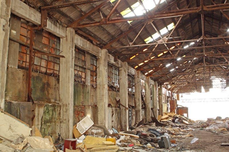 Zaniechany Przemysłowy Piec zdjęcia stock