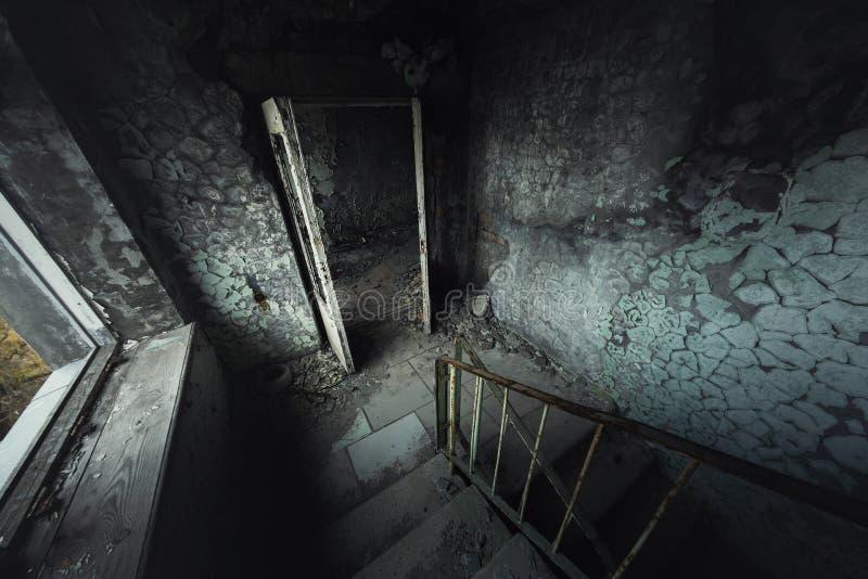 Zaniechany schody k?ta strza? fotografia royalty free