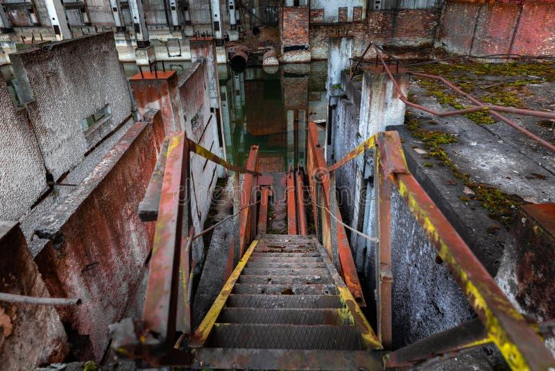 Zaniechany schody k?ta strza? fotografia stock