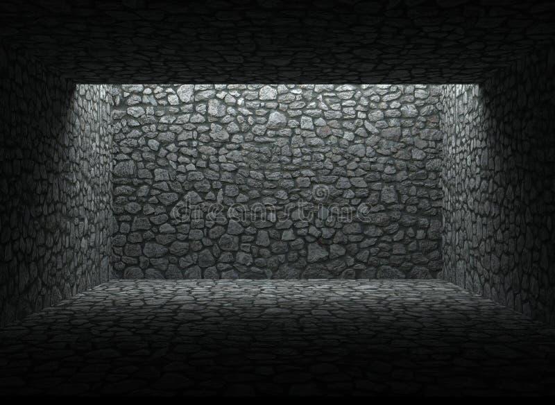Zaniechany schronienie, kamienna ściana i podłoga, zdjęcia royalty free