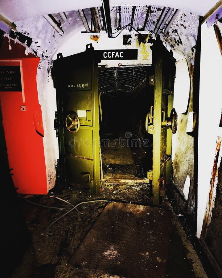zaniechany terenu bunkieru Chernobyl miasto Kiev gubił blisko regionu Ukraine zdjęcie stock