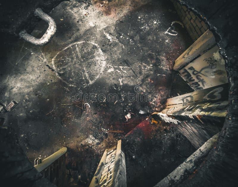 zaniechany terenu bunkieru Chernobyl miasto Kiev gubił blisko regionu Ukraine zdjęcie royalty free