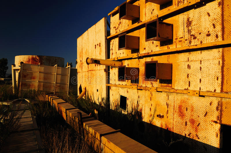 Zaniechany terytorium. fotografia stock