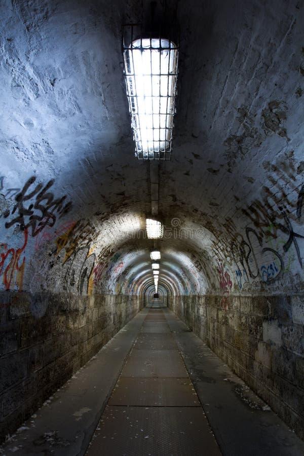 Zaniechany tunel fotografia stock