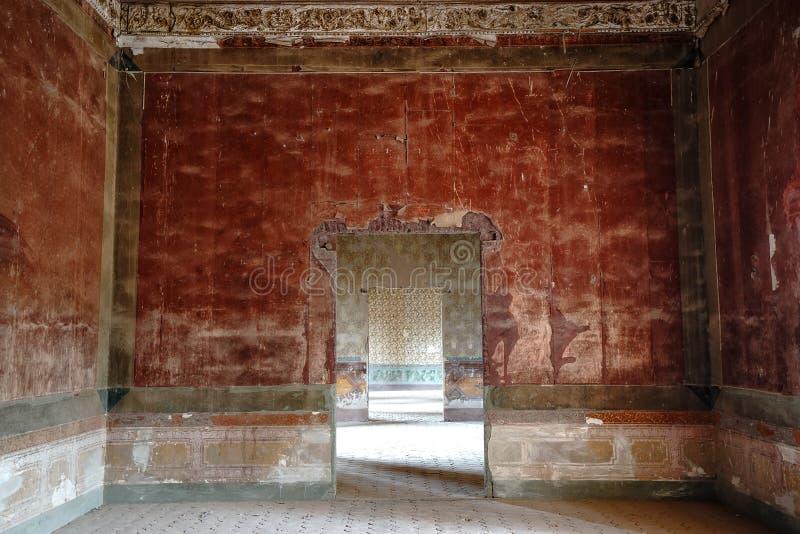 Zaniechany wnętrze jaral De Berrio średniowieczne hacjendy zdjęcie royalty free