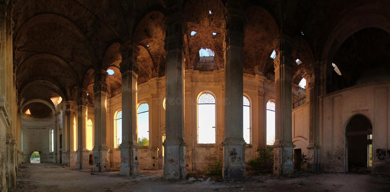 Zaniechany Zelts kościół katolicki, Ukraina obrazy royalty free