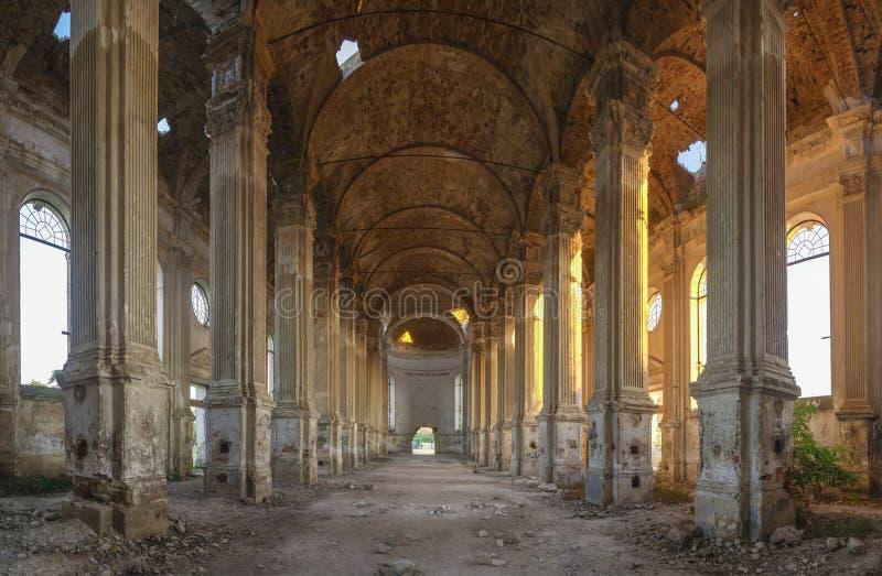 Zaniechany Zelts kościół katolicki, Ukraina fotografia royalty free