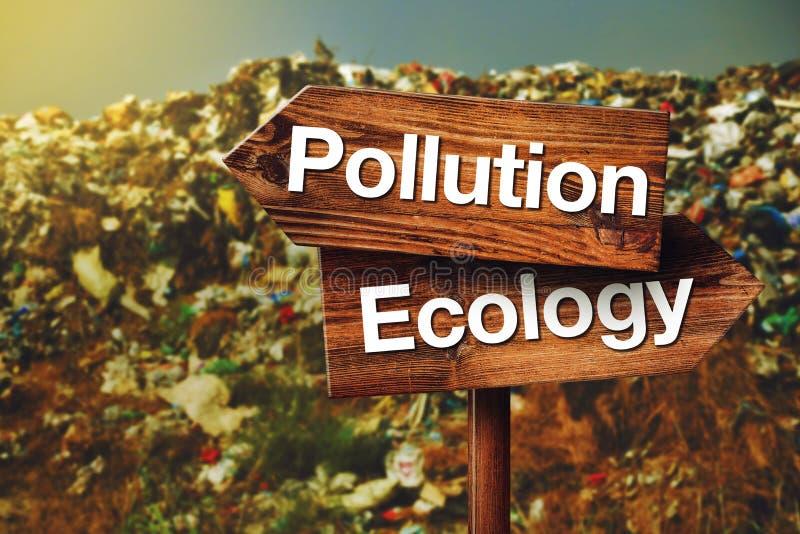 Zanieczyszczenia lub ekologii pojęcie fotografia royalty free