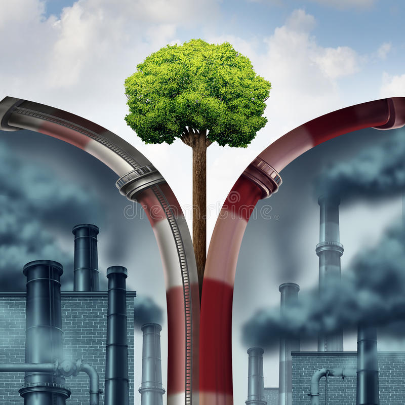 Zanieczyszczenia rozwiązanie ilustracja wektor