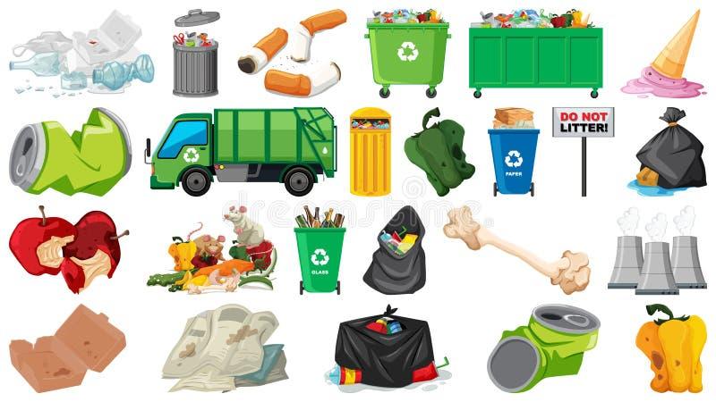 Zanieczyszczenie, ściółka, banialuka i grat, protestujemy odosobnionego ilustracji
