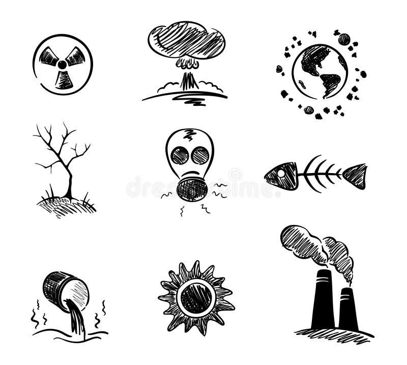 zanieczyszczenie środowiska ilustracji