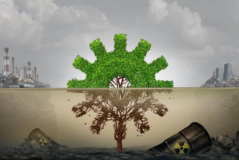 Zanieczyszczenie I biznes ilustracja wektor