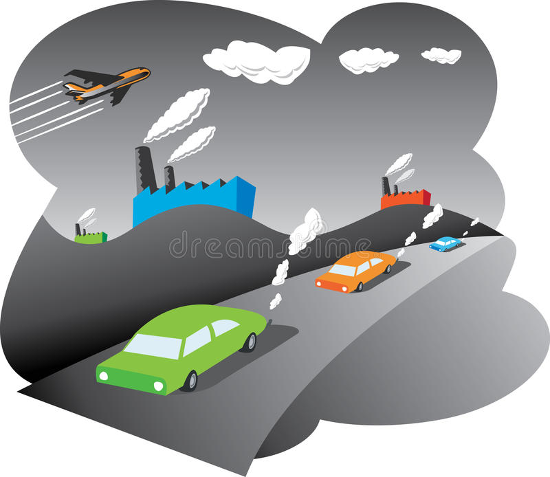 Zanieczyszczenie Powietrza ilustracji