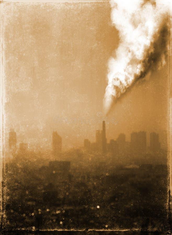 Zanieczyszczenie powietrza od starej fabryki obrazy royalty free