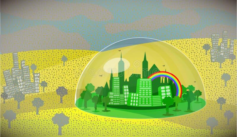 Zanieczyszczenie powietrza pm2 5 royalty ilustracja
