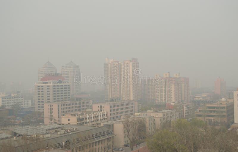 Zanieczyszczenie Powietrza w Pekin obraz stock