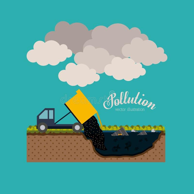 Zanieczyszczenie projekt, wektorowa ilustracja royalty ilustracja