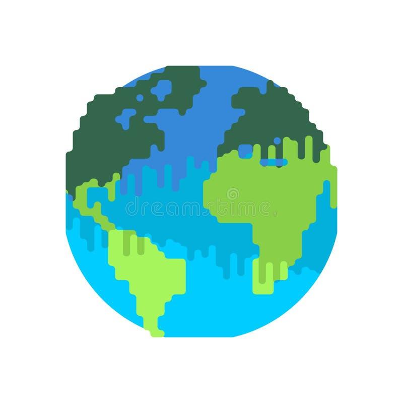Zanieczyszczenie ziemia czarny planeta Jadowity odpady Środowiskowy po royalty ilustracja