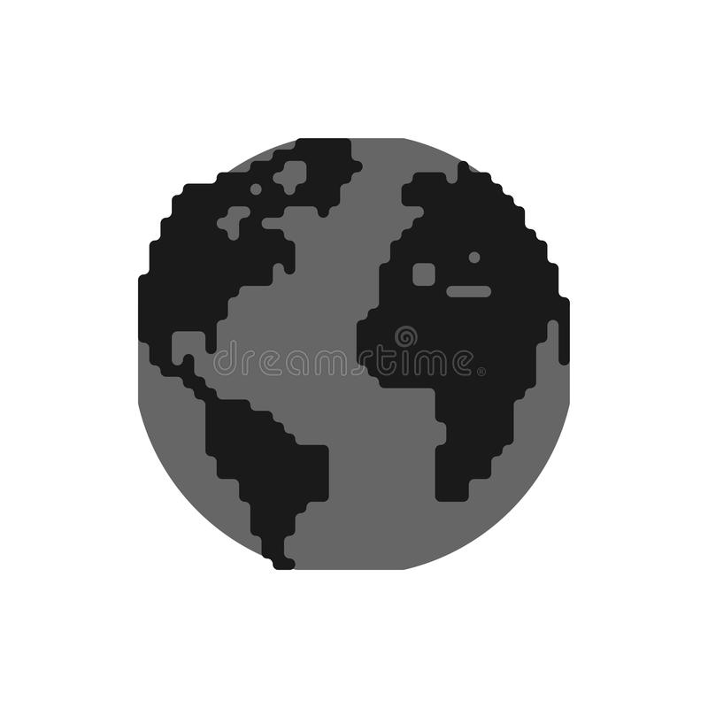 Zanieczyszczenie ziemia czarny planeta Jadowity odpady Środowiskowy po ilustracja wektor