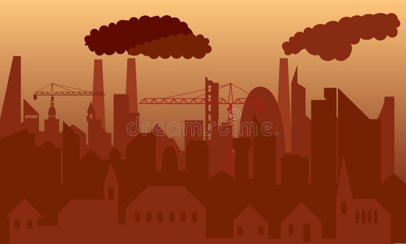 zanieczyszczone miasta ilustracja wektor