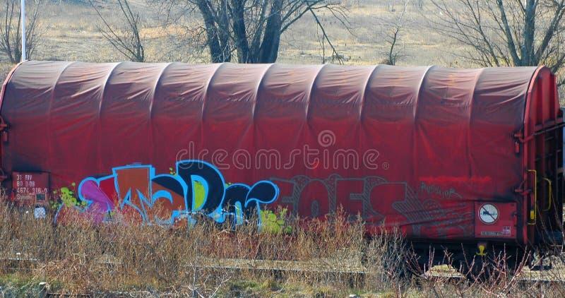 Zaniedbany śladu furgon zdjęcia stock