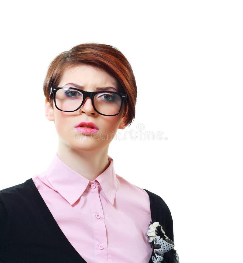 Zaniepokojona młoda kobieta zdjęcie stock