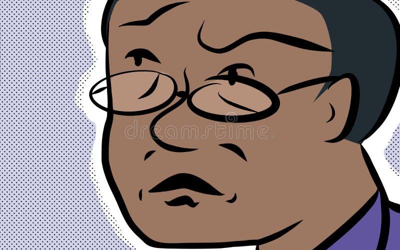 Zaniepokojony mężczyzna ilustracji