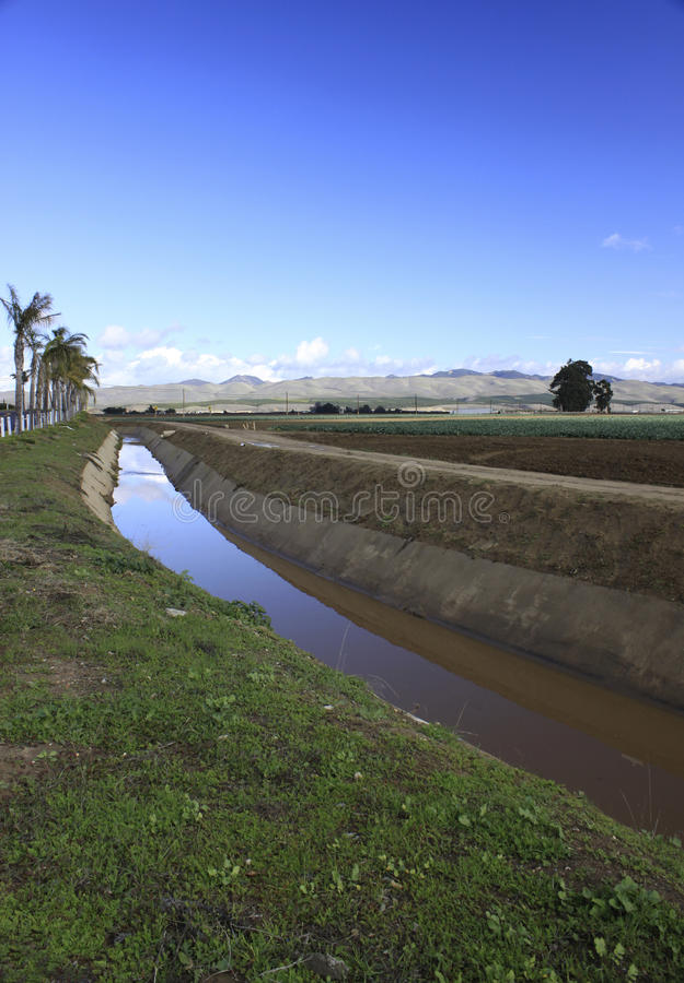 Zanja de drenaje de California fotos de archivo