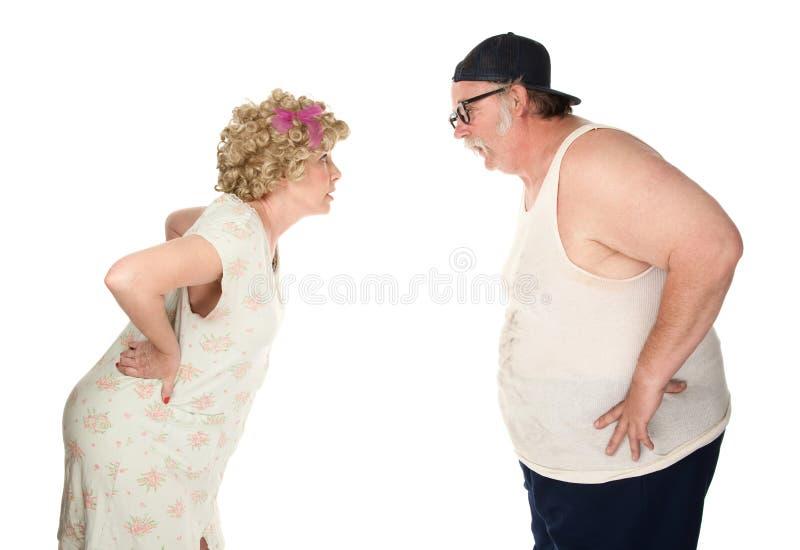 Zankende Paare stockfoto