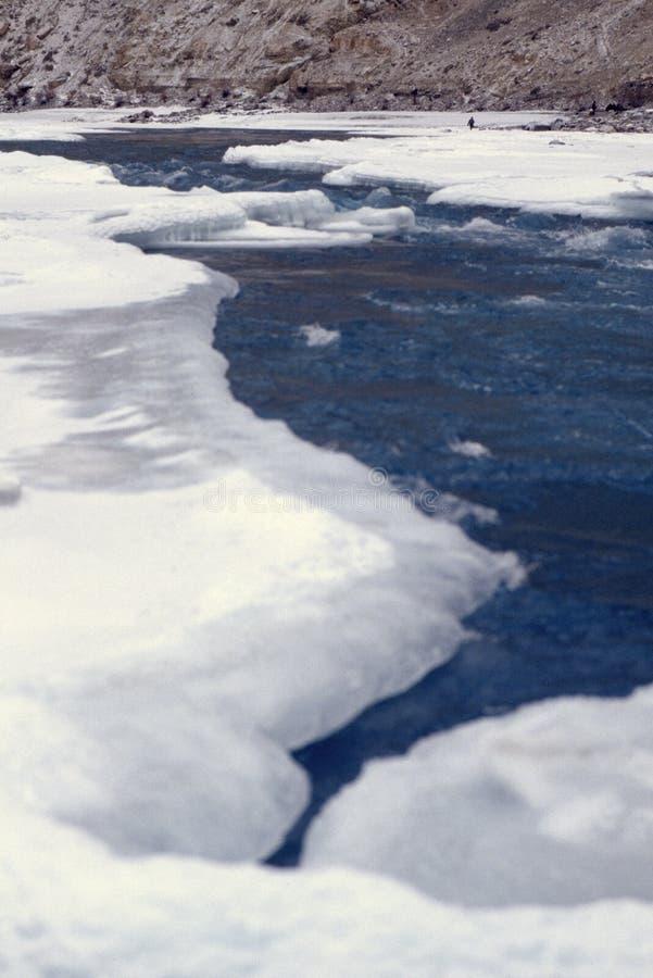 zanskar冻结的河 免版税库存照片