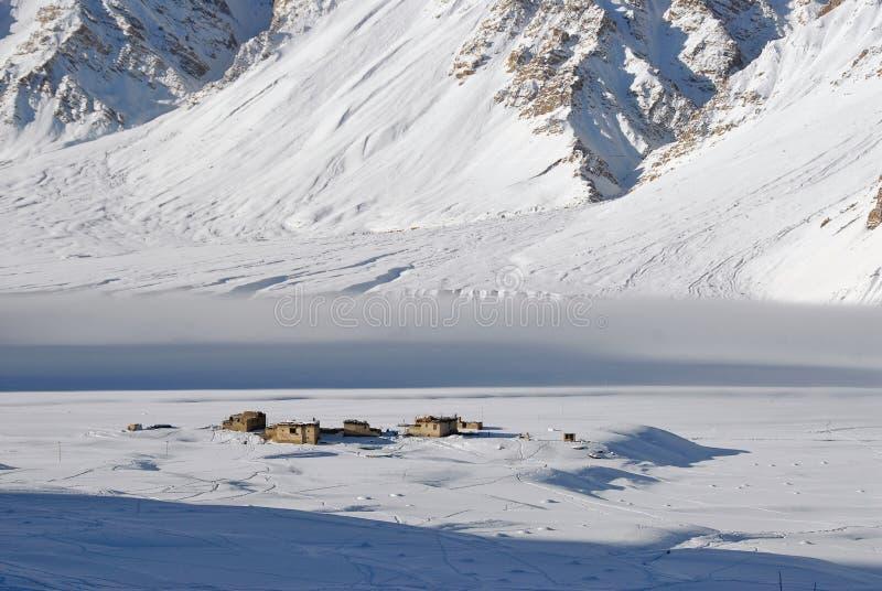 zanskar 2个谷的冬天 图库摄影