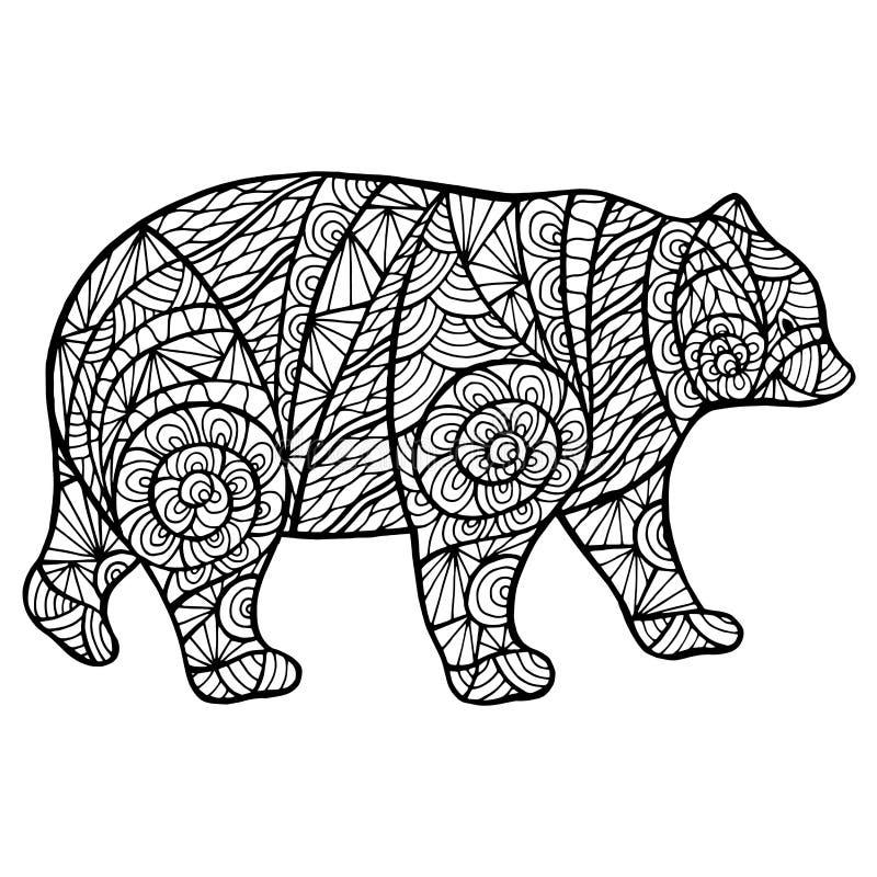 Zantangl stylisé d'ours illustration de vecteur