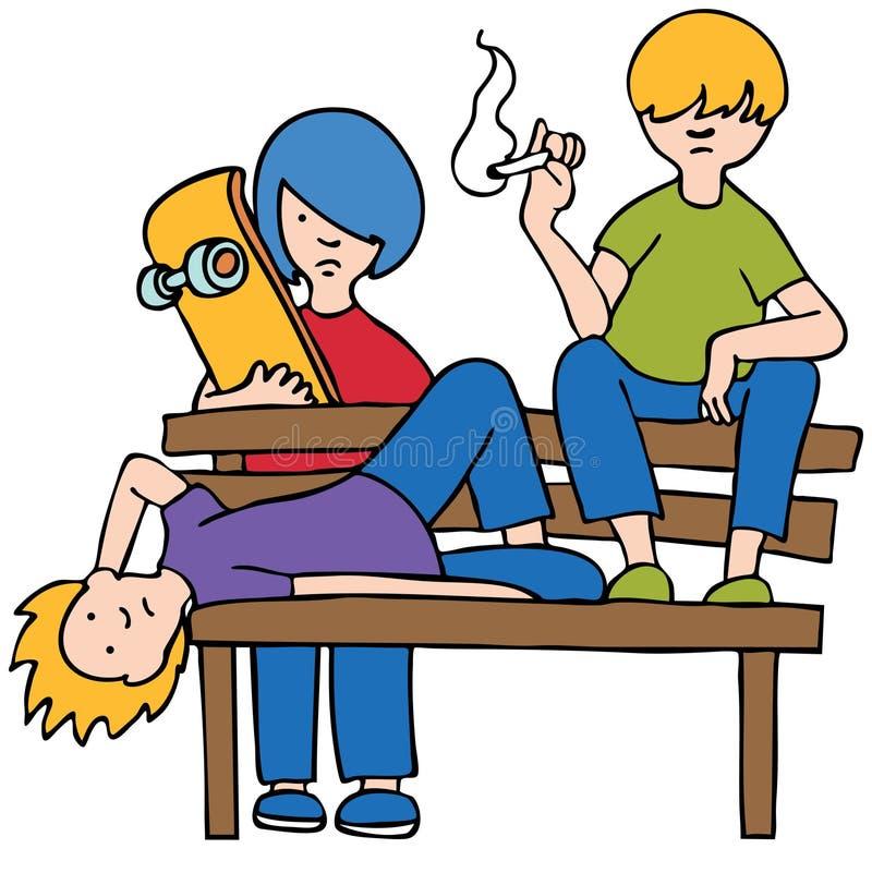 zanudzający dzieciaki ilustracja wektor