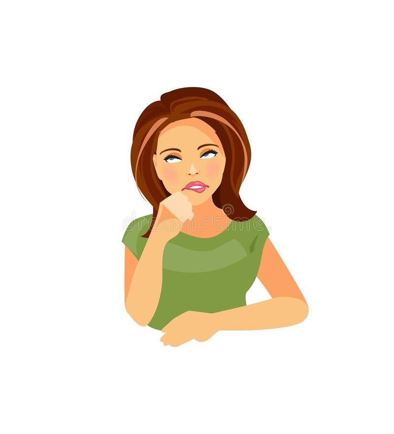 Zanudzający dziewczyna wektor ilustracja wektor