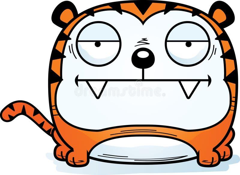 Zanudzający kreskówka tygrys ilustracji