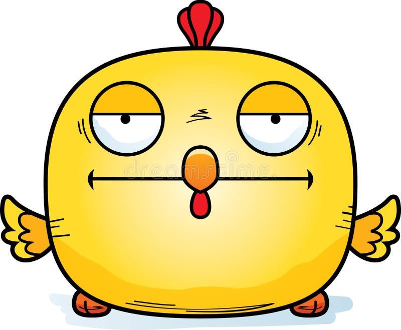 Zanudzający Mały kurczak ilustracji