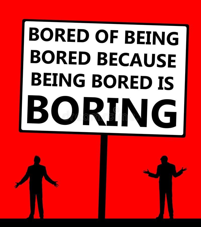Zanudzający nudny nudziarz ilustracja wektor