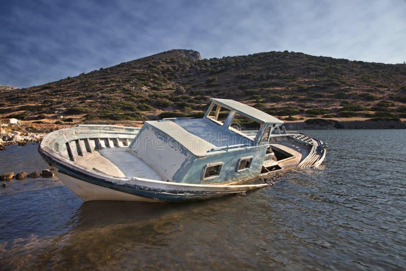 zanurzający łódkowaty połów obraz stock