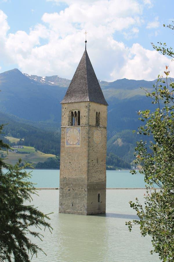 Zanurzający dzwonkowy wierza w jeziorze fotografia royalty free