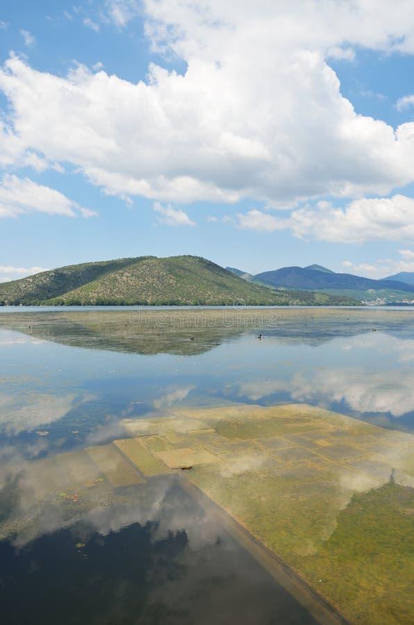 Zanurzający molo w jeziorze obraz stock