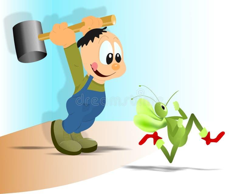 Zanzara di caccia illustrazione vettoriale