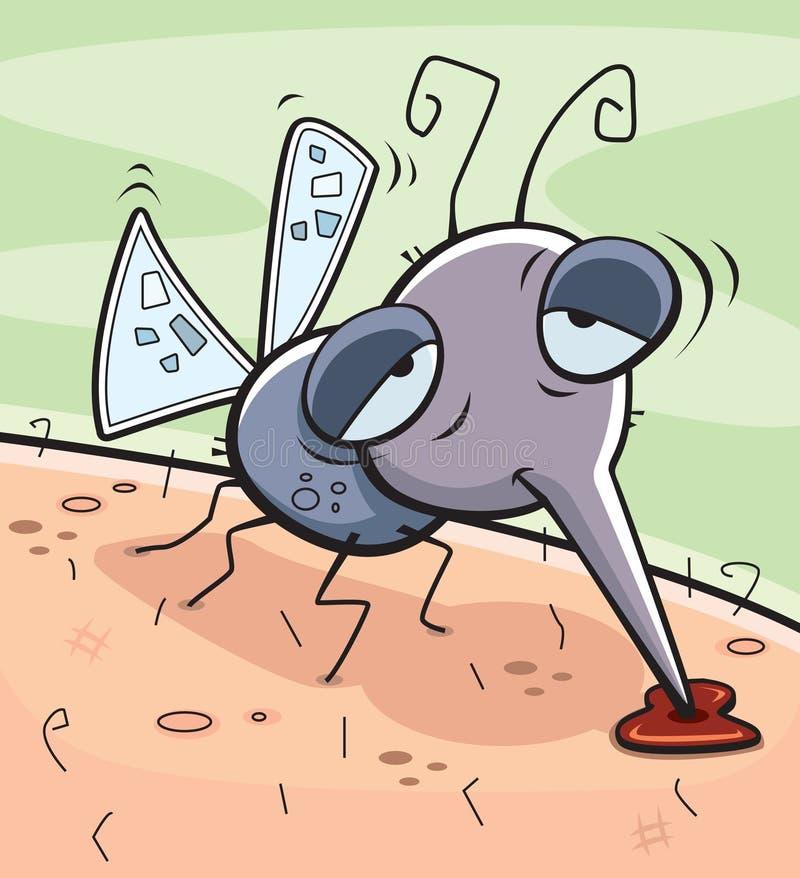 Zanzara ubriaca illustrazione di stock