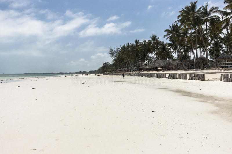 Zanzibar beach. Tropical beach in Kiwengwa Village on Zanzibar Island. Tanzania , Africa royalty free stock photography